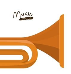 trumpet instrument isolated icon design vector image