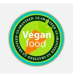 Vegan Food Label Set vector image vector image