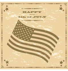 Vintage 4th of July vector image vector image