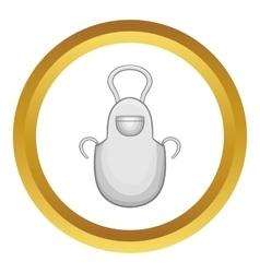 White apron icon vector