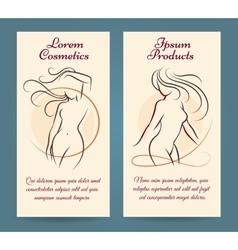 Woman health brochure template vector