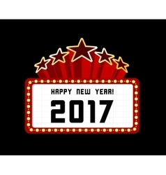 New year marquee 2017 vector