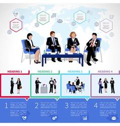 Meeting people infographics set vector