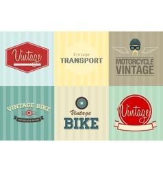 Transport emblems vector image