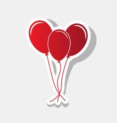 balloons set sign  new year reddish icon vector image