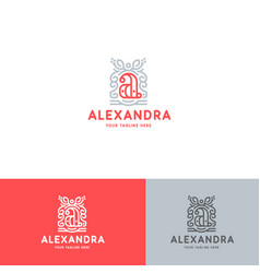 a letter logo template vector image