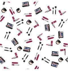 Makeup artist pattern vector