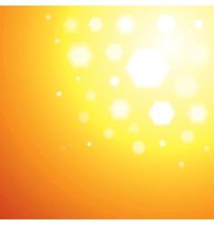 Abstract orange Sun light background vector image