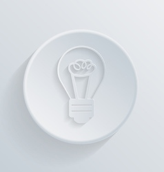 Circle icon with a shadow incandescent lamp vector