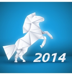 New year horse background concept vector