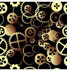 clockwork gears vector image