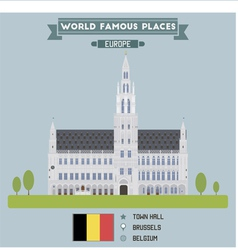 Town hall brussels vector