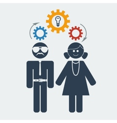 man woman idea vector image