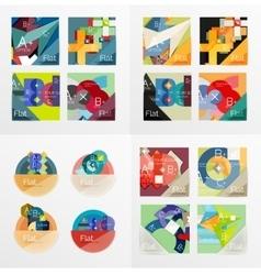 Modern geometric design temlates universal vector image