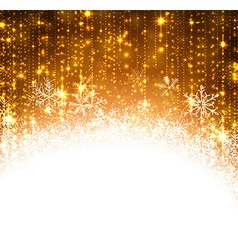 Christmas golden abstract background vector