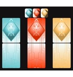 Digital cards vector