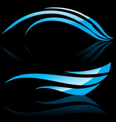 Abstract blue waves vector