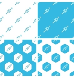Gender signs patterns set vector