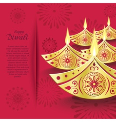 Creative design of burning diwali diya vector