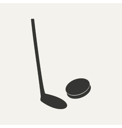 Flat in black and white mobile application hockey vector