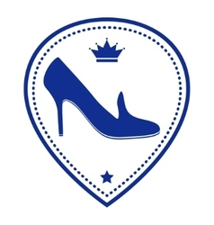 Vintage women shoe label vector