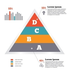 Infographics elements pyramid chart modern flat vector