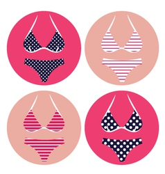 Retro bikini summer vector