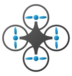 Air copter gradient icon vector