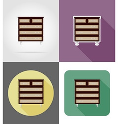 Furniture flat icons 29 vector