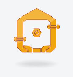 abstract home logo design vector image vector image