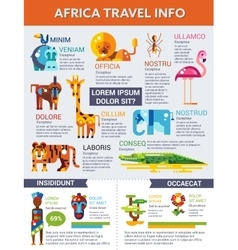 Africa Travel - poster brochure cover template vector image vector image