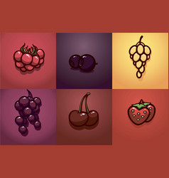 berry1 vector image vector image