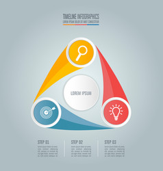 business concept with 3 options steps or vector image vector image