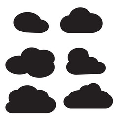 cloud icon on white background cloud sign vector image