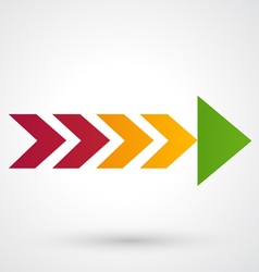 Color arrow icon vector