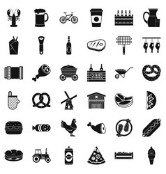 Delicacy icons set simple style vector