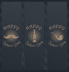 Fathers day card design collection vector
