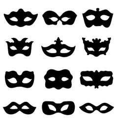 Festive masks vector