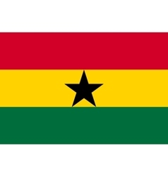 Flag of Ghana in correct proportions and colors vector image