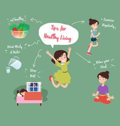 Health and wellness vector