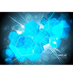 Hexagons background vector image