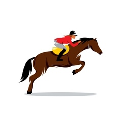 Horse at jumping sign vector image
