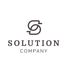 letter s outline logo design architecture vector image