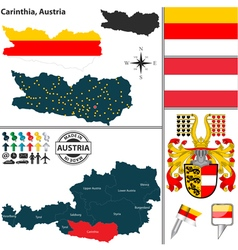 Map of Carinthia small vector image
