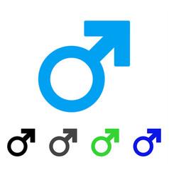 Mars symbol flat icon vector