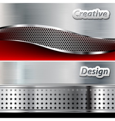 Metal background design vector image vector image