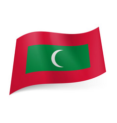 National flag of republic of the maldives green vector