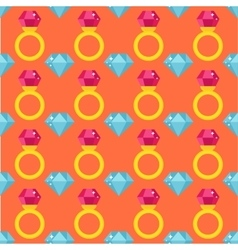 Precious ring seamless pattern vector