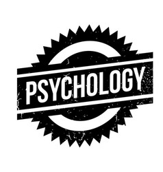 Psychology rubber stamp vector