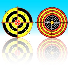 Set targets for practical pistol shooting exercise vector